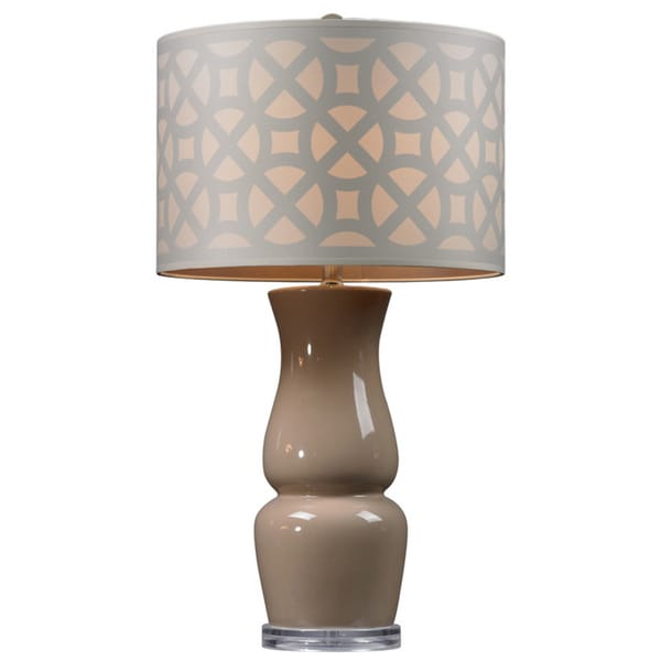 Ceramic 1-light Taupe Table Lamp