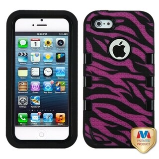 INSTEN TUFF eNUFF Hybrid Zebra Phone Case Cover for Apple iPhone 5/ 5S