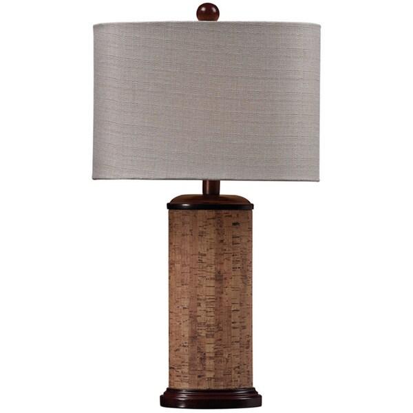 Cork 1-light Brown/ Natural Table Lamp