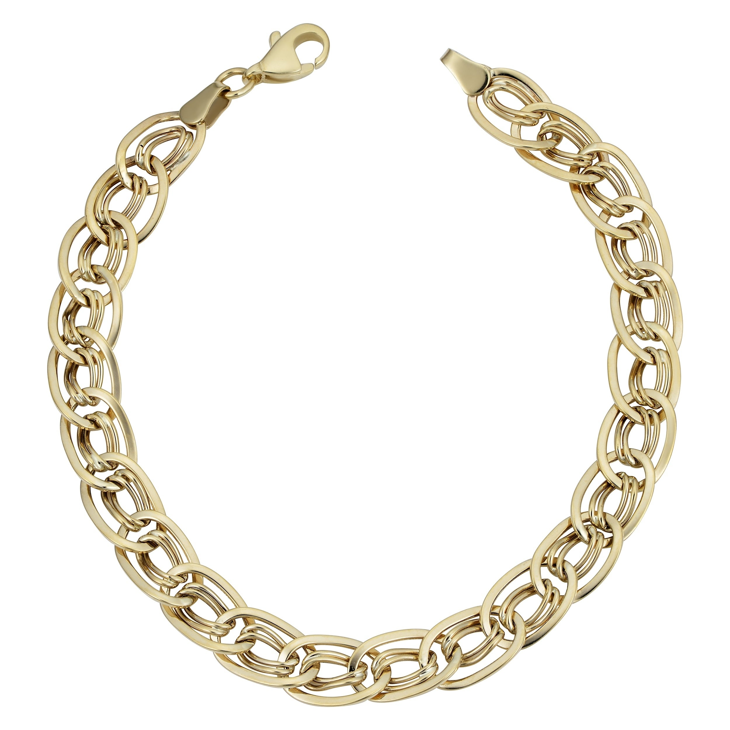 Fine Anklets 2019 New Style 14k Two Gold Abstract Fancy Link Design Ankle Bracelet 2.8 Grams Anklet Clearance Price Jewelry & Watches