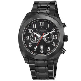Link to Akribos XXIV Men's Black Chronograph Stainless Steel Bracelet Watch Similar Items in Men's Watches