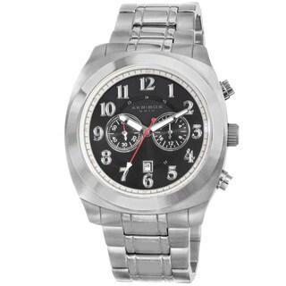 Akribos XXIV Men's Silvertone Stainless Steel Bracelet Chronograph Watch