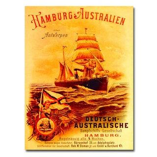 Unknown 'Hamburg-Australia' Canvas Art