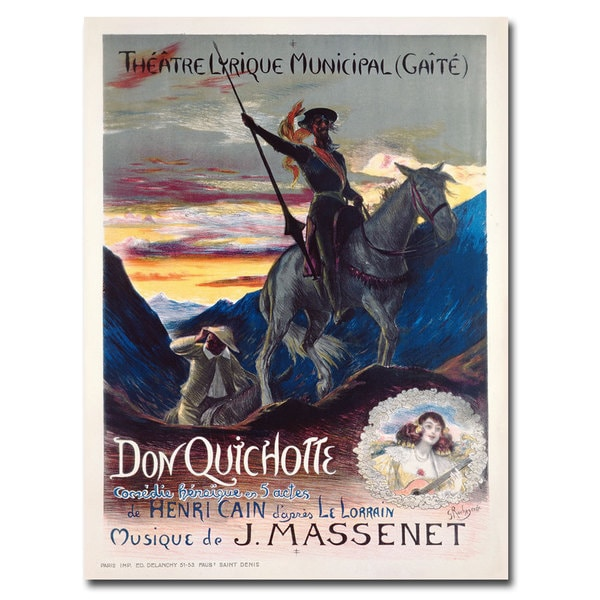 Georges Rochegrosse 'Don Quichotte' Canvas Art