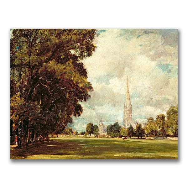 John Constable 'Salisbury Cathedral' Canvas Art