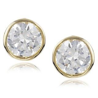 Journee Collection Silver-tone Cubic Zirconia Stud Earrings