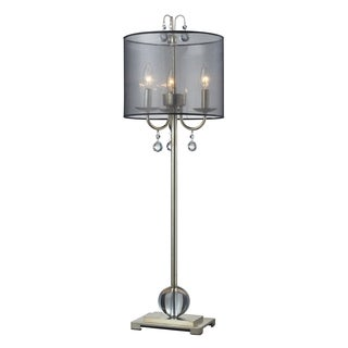 Amherst 3-light Silver Leaf Tall Buffet Lamp