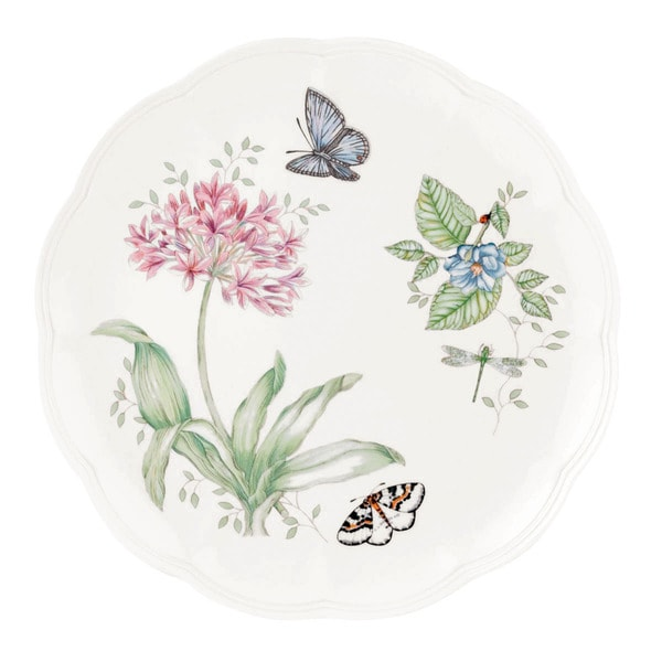 Lenox Butterfly Meadows Blue Butterfly Dinner Plate  sc 1 st  Overstock : overstock dinner plates - pezcame.com