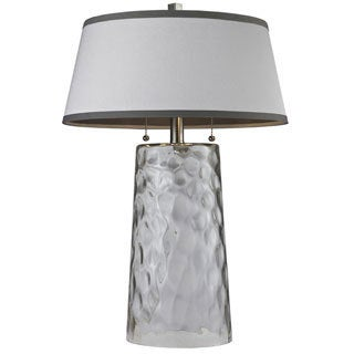 HGTV HOME Water Glass 1-light Clear Table Lamp
