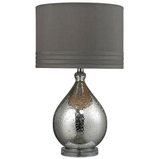 Mercury Platted Bubble Glass 1-light Table Lamp