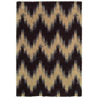 Moonwalk Andromeda-Chocolate Power-loomed Rug (1'8 x 3'7)