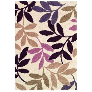 Moonwalk Lunar Garden/ Cream-Multi Brown Rug (1'8 x 3'7)