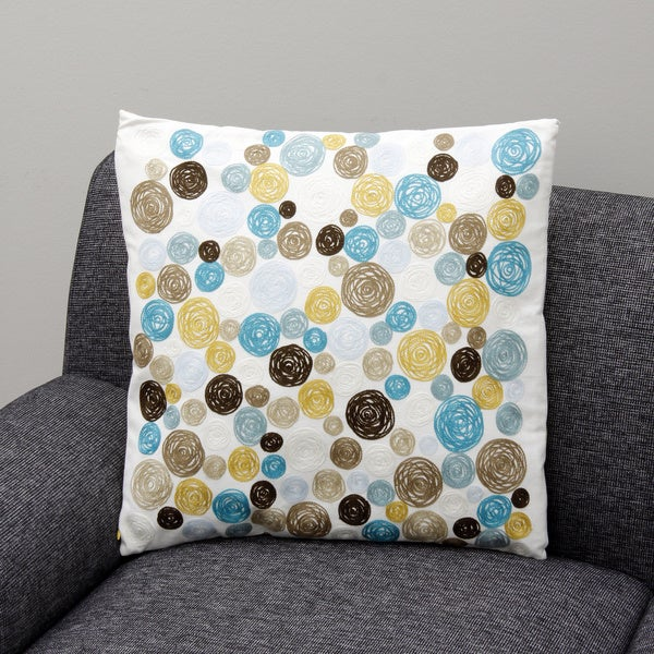 Blue polka dots Decorative Pillow (India)