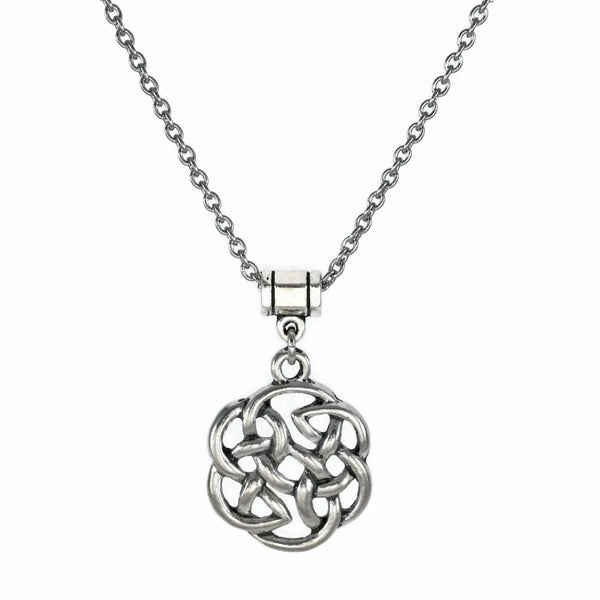 Jewelry by Dawn Unisex Pewter Celtic Knot Stainless Steel Necklace