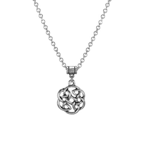 Handmade Jewelry by Dawn Unisex Pewter Celtic Knot Stainless Steel Necklace (USA)