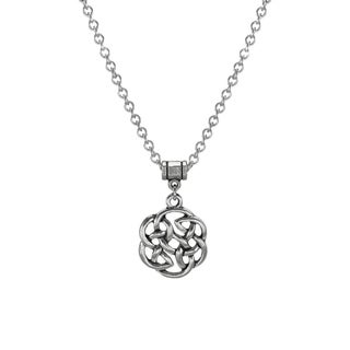 Handmade Jewelry by Dawn Unisex Pewter Celtic Knot Stainless Steel Necklace