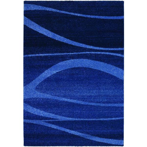 Shop Moonwalk Cosmic Breeze Cobalt Blue Power Loomed Area