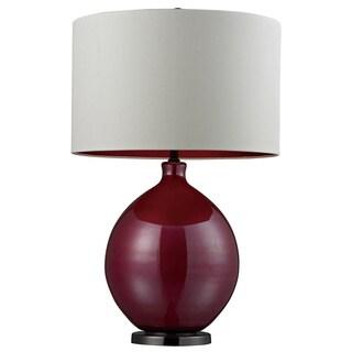 Blown Glass 1-light Cerise Pink Table Lamp