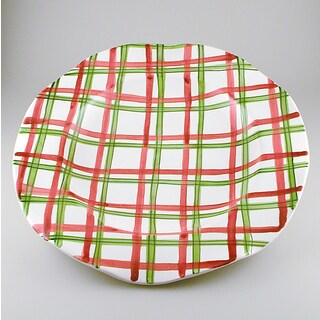 Tartan Twist Christmas Platter (Italy)