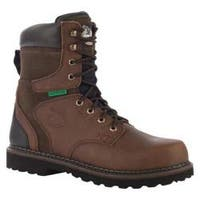 Men's Georgia Boot G9334 8in Brookville WP Work Boot ST Dark Brown Leather