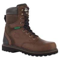 Men's Georgia Boot G9334 8in Brookville WP Work Boot ST Dark Brown Leather