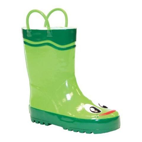 Children's Western Chief Frog Boot Green