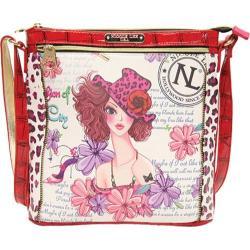 Women's Nicole Lee White Print Cross Body Bag Sunny