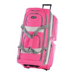 Olympia 33in 8 Pocket Rolling Duffel Hot Pink
