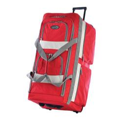 Olympia 33in 8 Pocket Rolling Duffel Red
