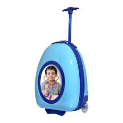 Children's Selfie Club 17in Kids Personalized Carry On Blue
