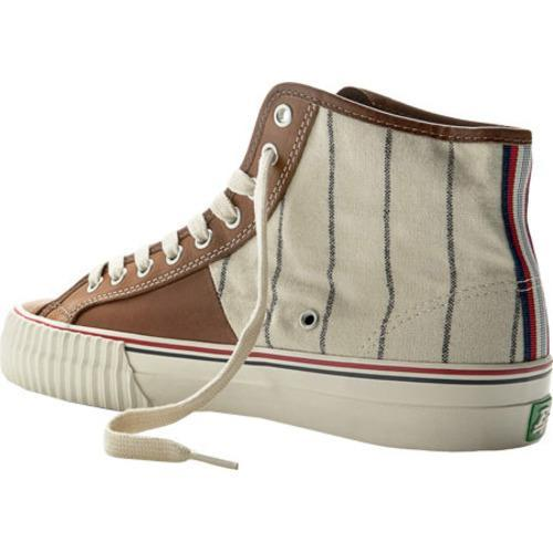 brand new a4f1c f3bb4 ... Thumbnail PF Flyers Ebbets Field Flannel Center Hi Brown White Flannel