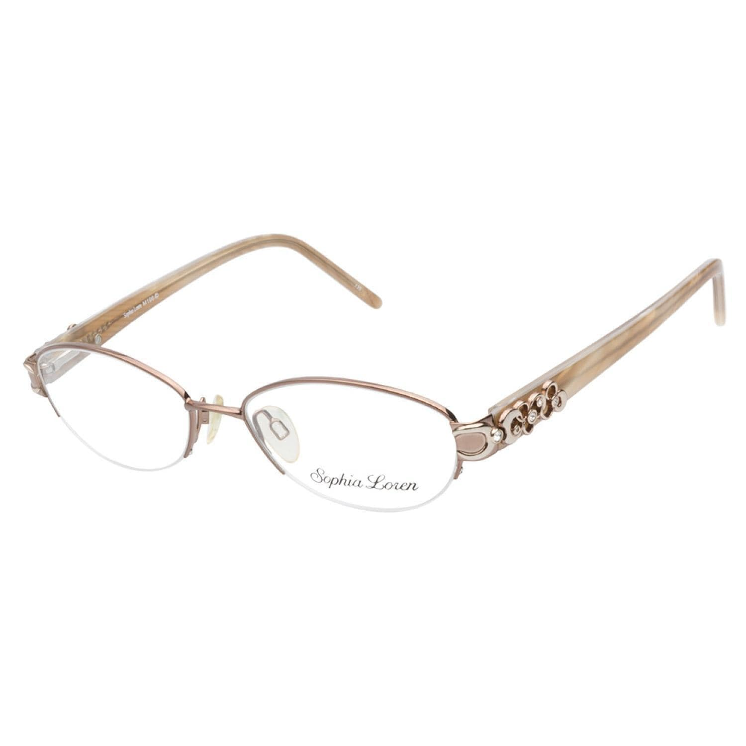 Shop Sophia Loren M196 200 Beige Prescription Eyeglasses - Free ...