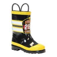 Boys' Western Chief FDUSA Firechief Rain Boot Black