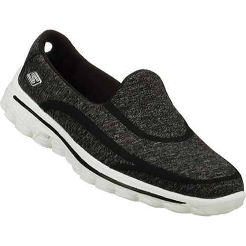 Women's Skechers GOwalk 2 Super Sock Black/White