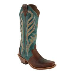 Women's Twisted X Boots WSO0015 Saddle/Turquoise Leather (More options available)