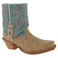 Women's Twisted X Boots WSOC002 Dusty Tan/Ocean Blue Leather