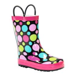 Girls' Western Chief Dot Party Rain Boot Black/Dots (2 options available)