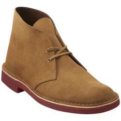 Clarks Men's Boots Chukka Desert Boot Oakwood Suede/Red Crepe