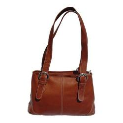 Women's Piel Leather Medium Buckle Handbag 2599 Saddle Leather