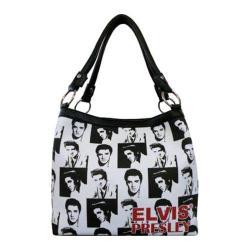 Women's Elvis Presley Signature Product Elvis Presley Medium Tote EL1213 Black