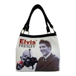 Women's Elvis Presley Signature Product Elvis Presley Motorcycle Medium Tote EL6833 Multicolored