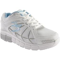 Women's Gravity Defyer Super Walk White/Blue Mesh