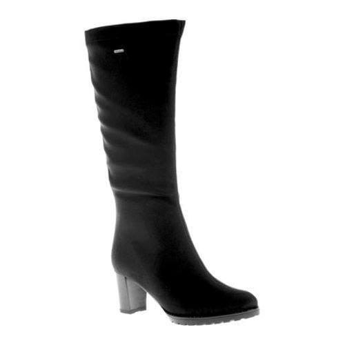 Ara Womens Black Boots Gabriella Stretch Fabric
