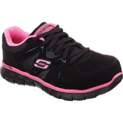 Women's Skechers Work Synergy Sandlot ST Black/Pink