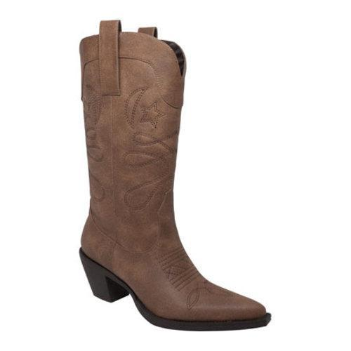 Women's AdTec 8609 14in Western Pull On Light Brown Faux Leather