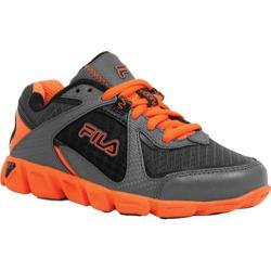 Children's Fila Ultraloop 2 Pewter/Vibrant Orange/Black