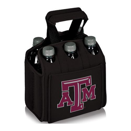 Picnic Time Six Pack Texas A&M Aggies Black