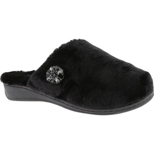 657a0791861f Shop Women s Vionic with Orthaheel Technology Gemma Luxe Slipper Black -  Free Shipping Today - Overstock - 9464885