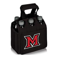 Picnic Time Six Pack Miami University Red Hawks Black