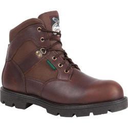 Men's Georgia Boot G105 6in Homeland Steel Toe WP Work Shoe Brown Full  Grain Leather/